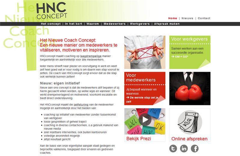 Het Nieuwe Coach Concept - Een WordPress website