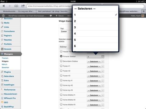 Widgets en de iPad
