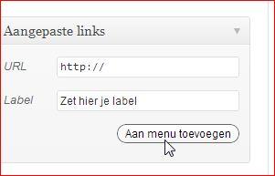 Hoofdmenu-item zonder link met WordPress