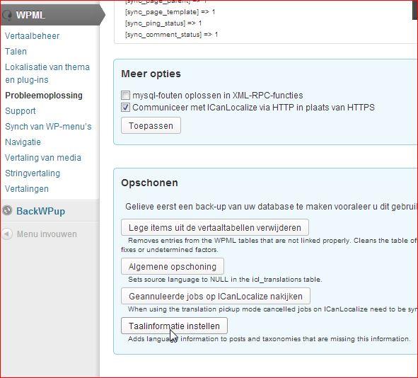WordPress WPML taal instellen